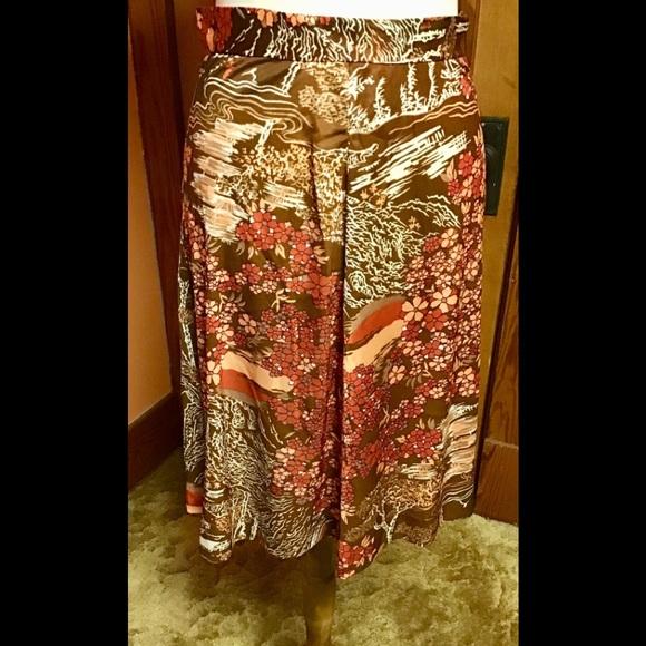 f453f5074 Vintage Skirts | 70s Flowers And Trees Retro A Line Skirt | Poshmark